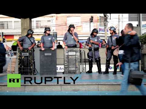 Brazil: Tear gas, stun grenades used against striking metro workers