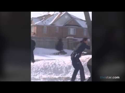 Teen Girls Caught On Video In Fight With Peel Police Officer video