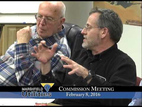 Marshfield Utilities Commission 02/08/2016