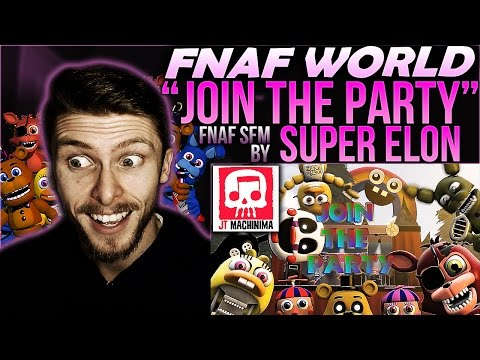 "Vapor Reacts #215 | [FNAF SFM] FNAF WORLD RAP SONG ""Join The Party"" Animation by Super Elon REACTION"