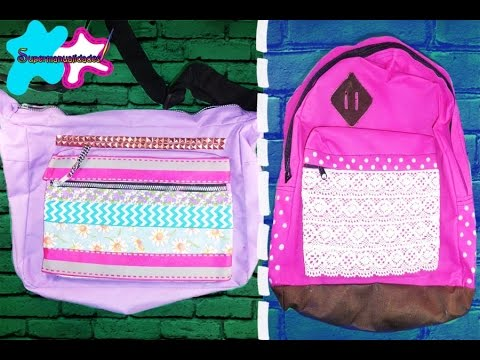 Decora tus mochilas escolares 2 ideas f ciles supermanualidades youtube - Como decorar mis fotos ...