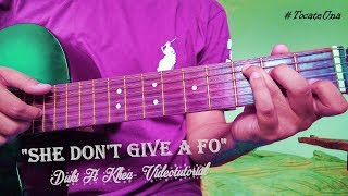 "Como tocar ""She dont give a fo  - duki ft khea""  en guitarra: Tutorial con acordes #TocateUna"