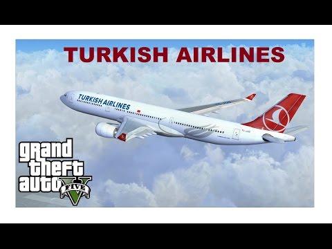 GTA 5 TÜRK HAVA YOLLARI UÇAЁI THY - TURKISH AIRLINES + İNDİR