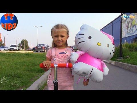 Хелло Китти и Ярослава в Парке Развлечений - Катаемся на Машинках Видео для детей Hello Kitty Toys