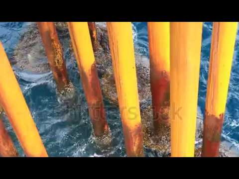 waves hit oil and gas producing slots at offshore platform oil and gas industry 5