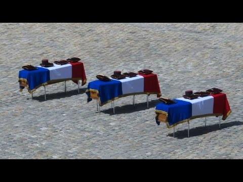 Soldats français morts au Mali: hommage aux Invalides à Paris