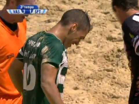 Futebol de Praia :: Sporting - 2 x Vasco da Gama - 4 de 2010/2011 Mundialito - Final