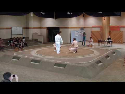 秋田県国際交流チャリティー相撲大会 at 秋田武道館 international charity sumo