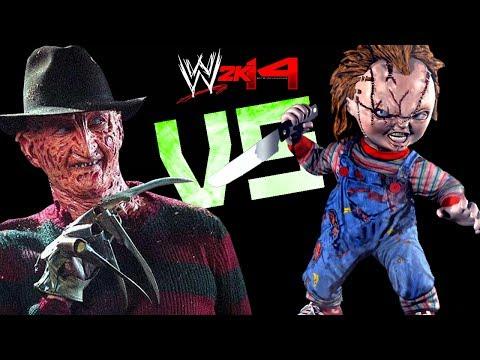WWE 2K14: Chucky Curse VS Freddy Krueger [FR//HD]
