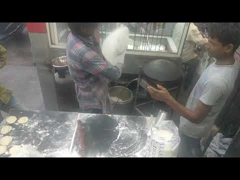 Universal kebabs and biryani making rumali roti.