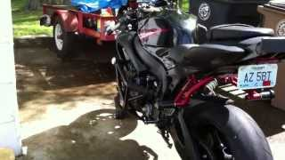 Walk around 2006 gsxr 750 with boz brothers exhaust and set valve removal