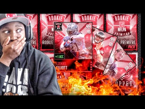 ROOKIE PREMIERE PACK OPENING & 99 MASTER SETS! Madden NFL 16 Mobile Gameplay