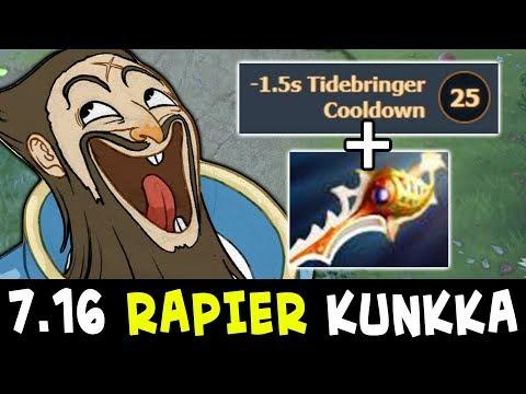 7.16 RAPIER Kunkka — NEW 25 level talent non-stop spam