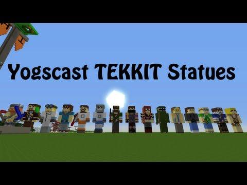 Yogscast Tekkit Statues (Updated)