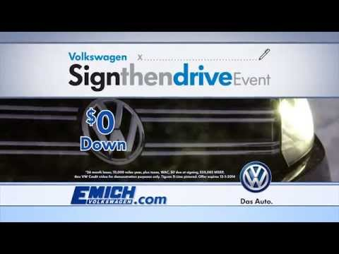 VW Tiguan SignThenDrive Sales Event at Emich VW