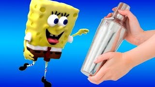 How to do a Spongebob + Stop motion play doh claymotion animation Peppa pig Pocoyo