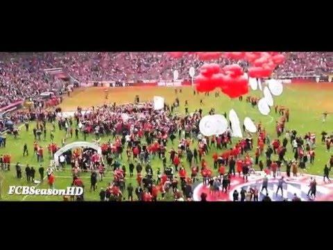 FC Bayern vs Hannover 96 (3-1) Platzsturm Südkurve München in der Allianz Arena 14/05/2016 HD