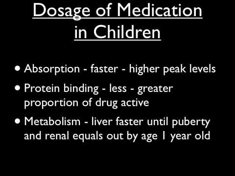 Psychiatric Medications in Children (Part 1) Treatment Plans