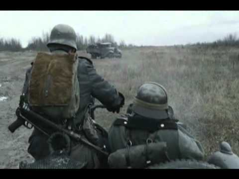 German soldiers in motorcycle shoot to kill russian soldiers