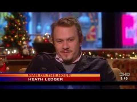 Heath ledger on a tv program