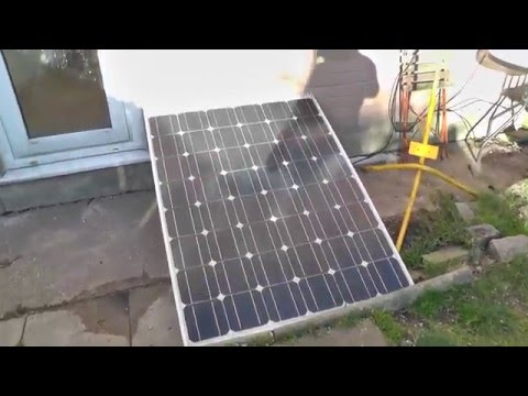 Now Use Shanghai Electric 175W monocrystalline solar panel and 12V radio with battery