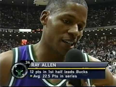 2001 Playoffs Magic - Bucks GM3 Part2 (Ray Allen dunks on T-Mac)