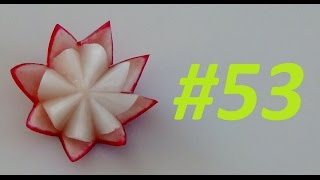 #53 Simple red radish flower / Prosty kwiat z rzodkiewki