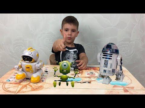 Робот Бот распаковка играем Robot Bot unboxing toy and play не Star Wars Smart R2 D2 звездные войны
