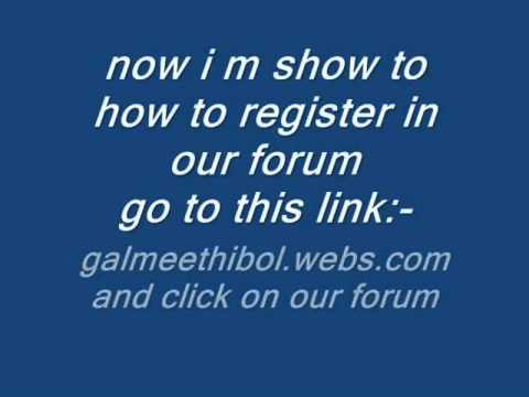 how to register in gal meethi bol chat room and forum