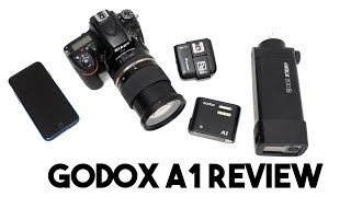 Godox A1 Smart Phone Flash and Trigger Review and How to guide (Flashpoint M1 PRO)