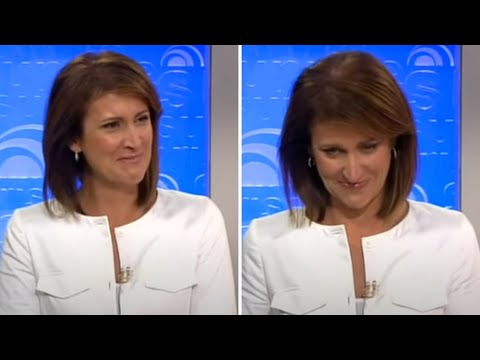Nat Cracks Up At Weekend At Bernies Story - Newsreader Blooper On Sunrise video