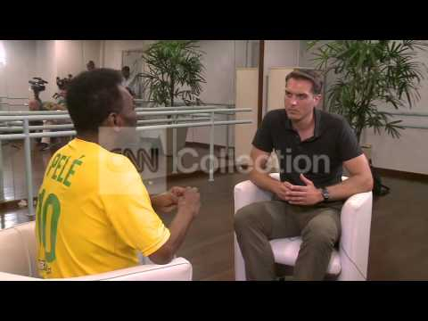 BRAZIL WORLD CUP:FOOTBALL LEGEND PELE INTERVIEW