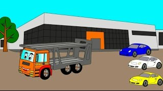 Cartoon about transporter. Cartoon coloring book for children. Transporter