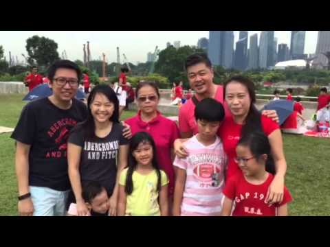 Birthday wishes to Singapore - The Teo and Sim families