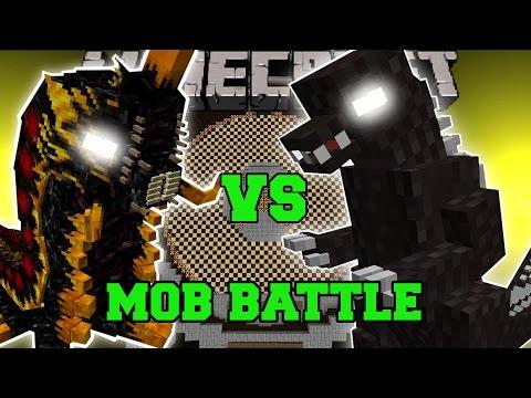 Battra Larva Vs Godzilla - Minecraft Mob Battles - Minecraft Mods video