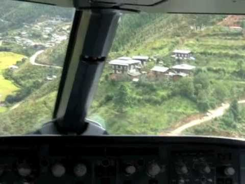 Most difficult landing in the world - Bhutan? (Original)