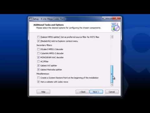 Cómo instalar y configurar K-Lite Codec Pack