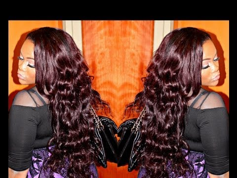 Bombshell Burgundy Hair Tutorial Part 2: LEO LOCKS VIRGIN HAIR