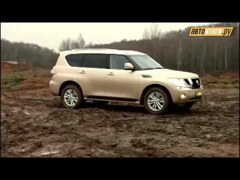 nissan patrol royale Y62 - presentation & tests drive in russia