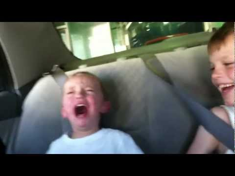 Funny kid video scary car wash ride