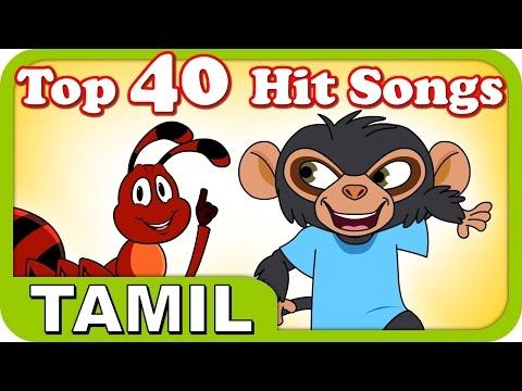 Top 40 Hit Songs For Kutties | 1 Hour! | Best Tamil Cartoon Nursery Rhymes For Kids video