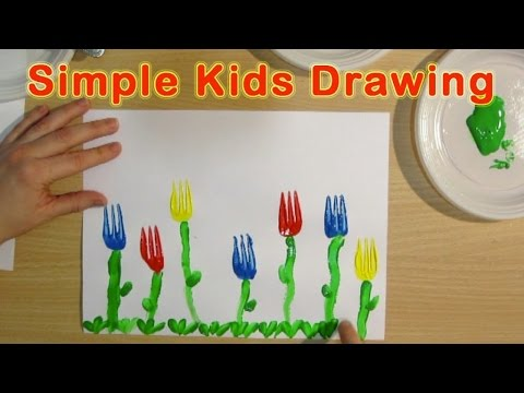 FLOWERS: ORIGINAL PRESCHOOL ACTIVITIES - KIDS SIMPLE DRAWING for children, kids, babies