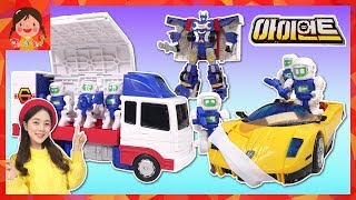 hellocarbot Truck car Engineer robot crew ambulance Maintenance play kids toy [yura]