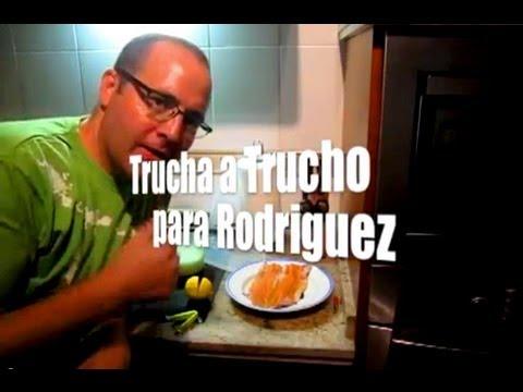 Trucha al Trucho, Rica comida para Rodriguez. Receta fácil. Al microondas.