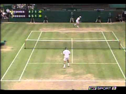 Federer vs Roddick Wimbledon Final 2004