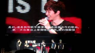 20121215  2PM Live Tour in Taipei 3中場談話