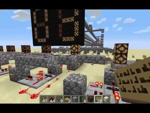 Minecraft - 0 to 255 Binary Counter with 7-segment Display