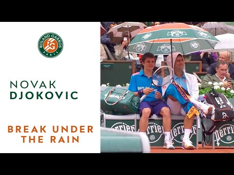 French open in the rain with Novak Djokovic