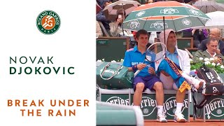French open in the rain with Novak Djokovic - Roland-Garros 2014