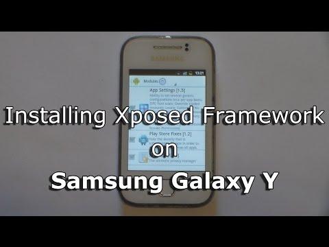 Installing Xposed Framework on Samsung Galaxy Y GT-S5360